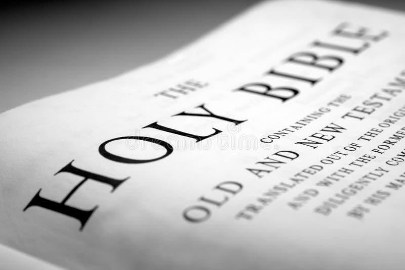 De heilige bijbel stock fotografie