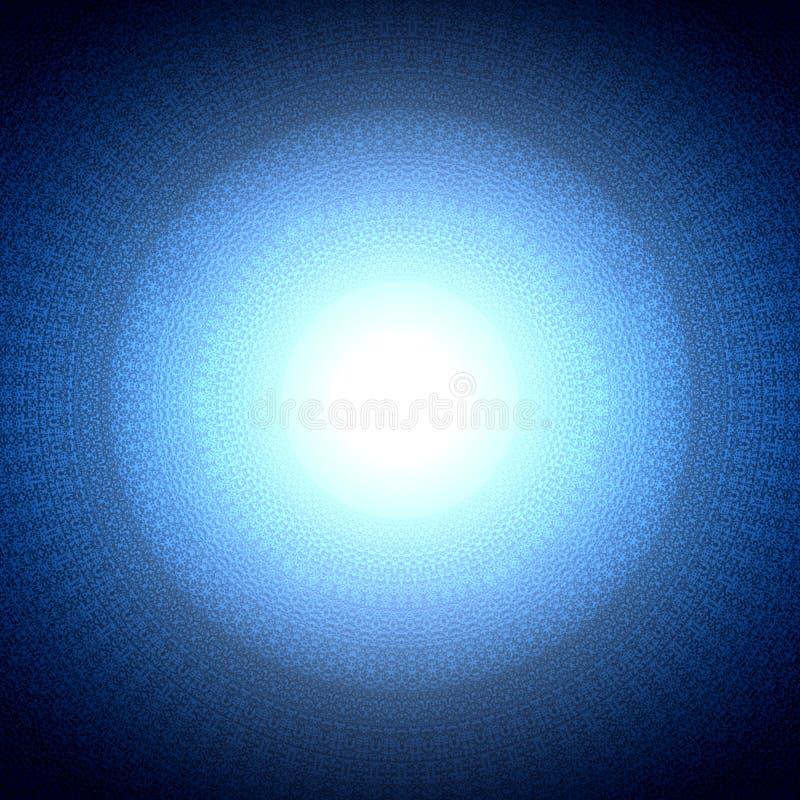De heilige blauwe achtergrond van het meetkundesymbool royalty-vrije illustratie