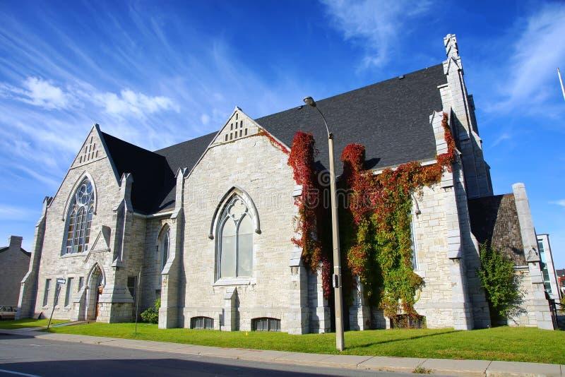 De heilige 19de eeuw van Drievuldigheidsbaptist church kingston ontario canada royalty-vrije stock fotografie