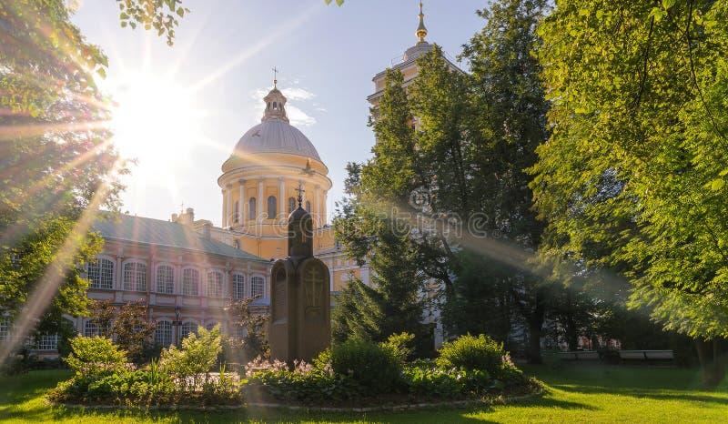 De Heilige Drievuldigheid Alexander Nevsky Lavra royalty-vrije stock foto's