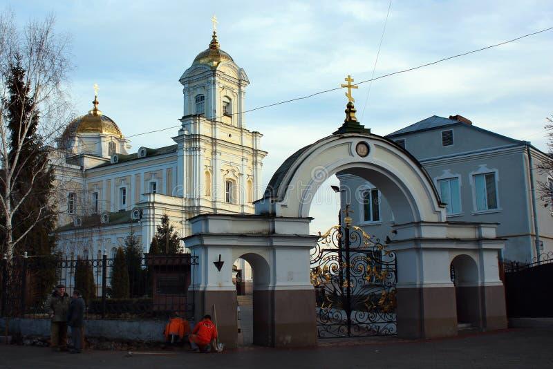 De Heilige Drievuldigheid Orthodoxe Cahedral in Lutsk, de Oekraïne stock foto's