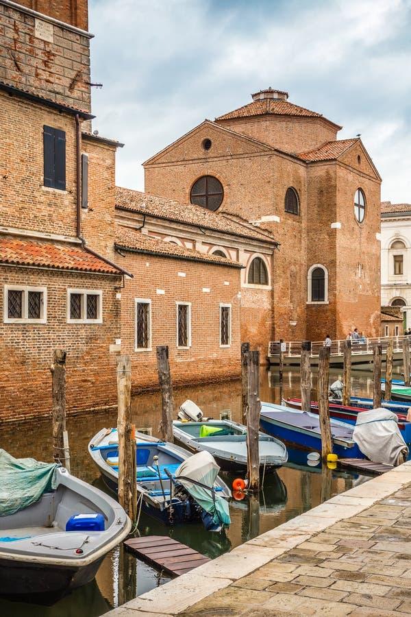 De Heilige Drievuldigheidskerk - Chioggia, Venetië, Italië royalty-vrije stock foto
