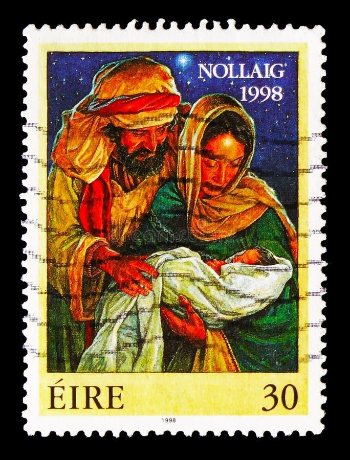 De Heilige Familie, Kerstmis serie, circa 1998 royalty-vrije stock foto