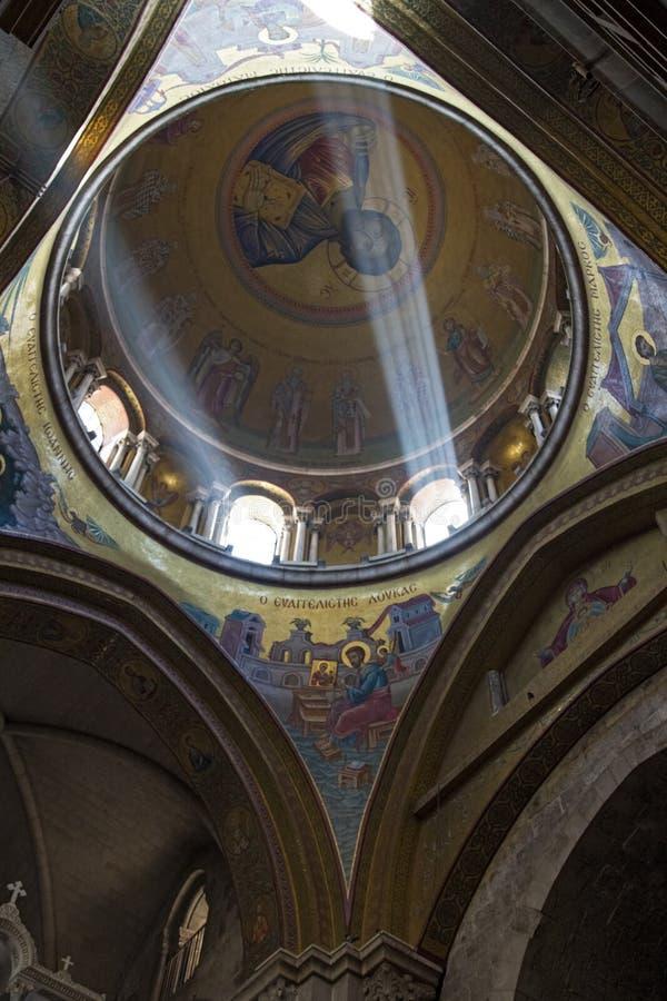 De Heilige Grafgewelfkerk in Jeruzalem stock afbeelding