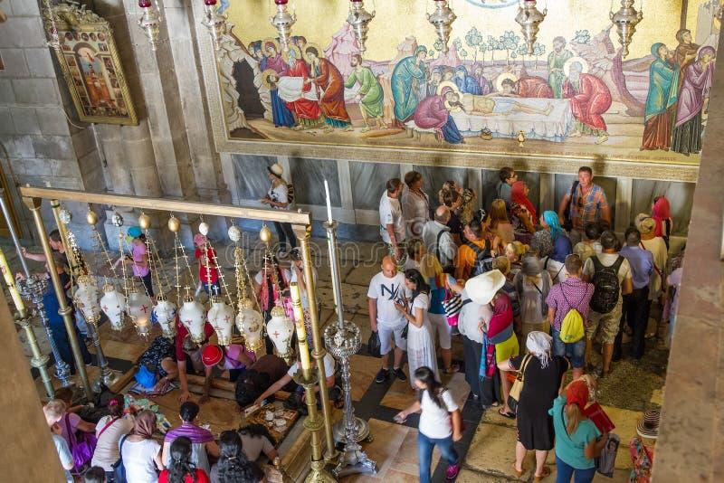 De Heilige Grafgewelfkerk in Jeruzalem stock afbeeldingen
