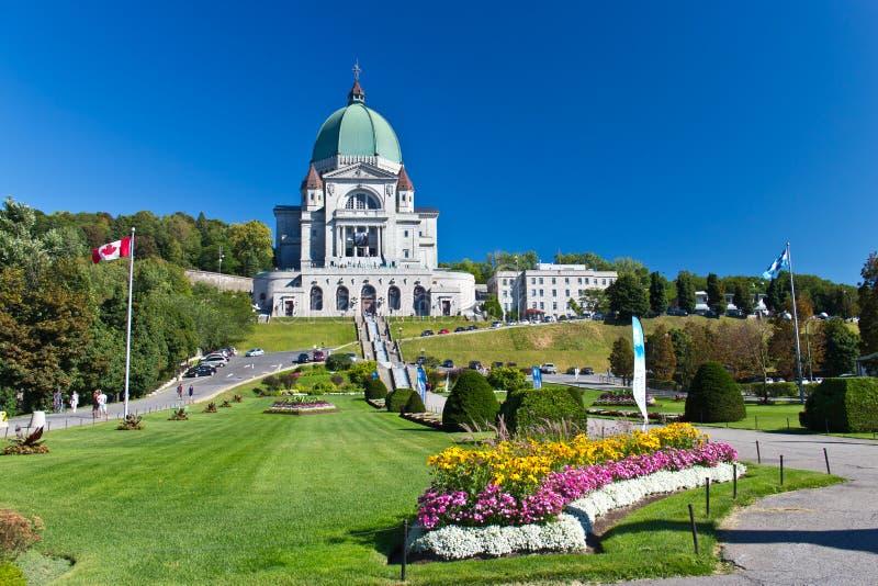 De Heilige Joseph Oratory in Montreal, Canada is een Nationale Histo royalty-vrije stock foto