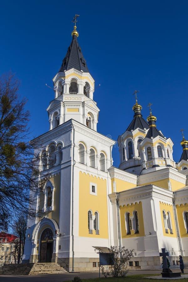 De heilige Kathedraal van de Transfiguratie Zhitomir Zhytomyr ukraine stock afbeeldingen