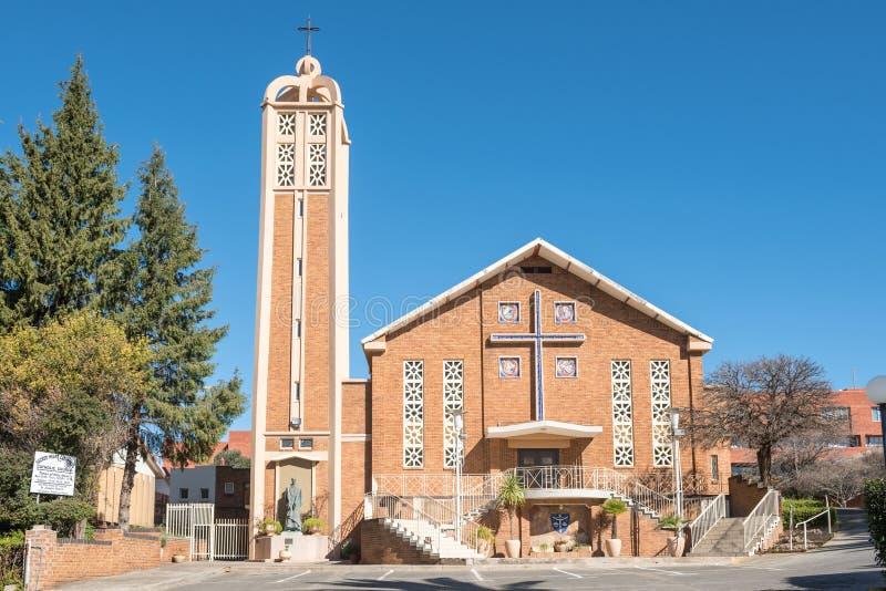 De heilige Katholieke Kerk van de Hartkathedraal in Bloemfontein stock foto