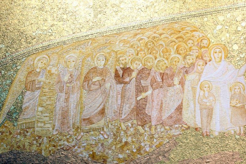 De heilige Kerk van de Drievuldigheid, Fatima, Portugal royalty-vrije stock fotografie