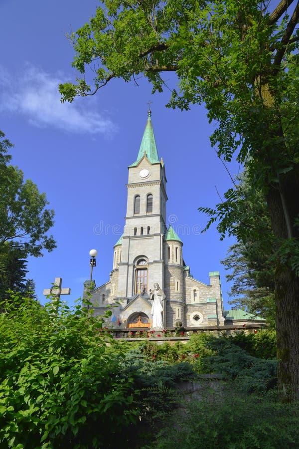 De heilige Kerk van de Familie in Zakopane, Polen royalty-vrije stock foto