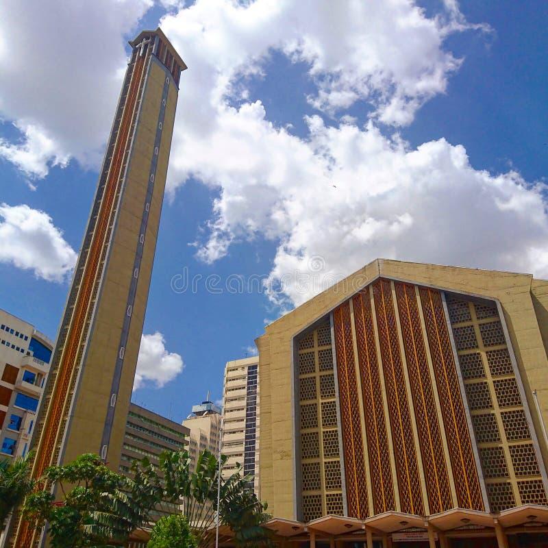 De heilige Kerk van de Familiebasiliek in Nairobi royalty-vrije stock foto