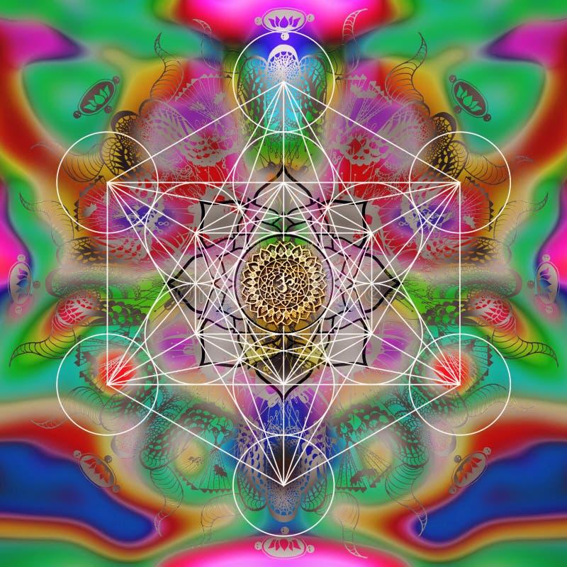 De heilige meetkunde van de Metatronkubus stock illustratie