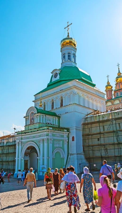 De Heilige Poort van St Sergius Trinity Lavra in Sergiyev Posad royalty-vrije stock afbeelding