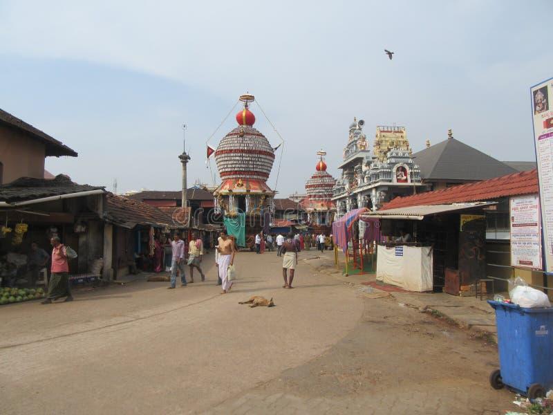 De heilige tempelstad Udupi royalty-vrije stock fotografie