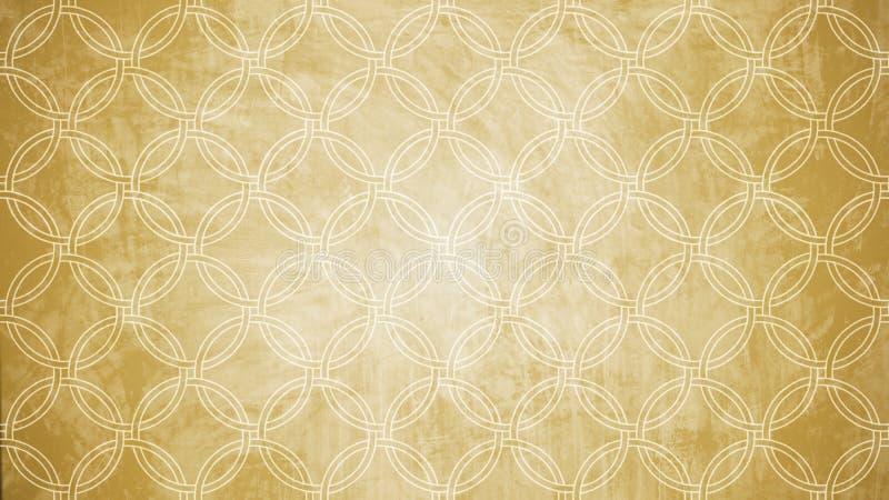 De heilige vorm van het de zegelpatroon van de meetkundecirkel op textu van het muurpatroon royalty-vrije stock afbeelding