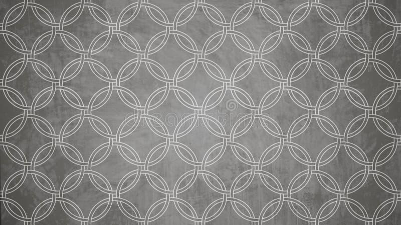 De heilige vorm van het de zegelpatroon van de meetkundecirkel op textu van het muurpatroon stock foto's