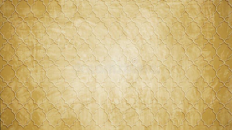 De heilige vorm van het de zegelpatroon van de meetkundecirkel op textu van het muurpatroon stock afbeeldingen
