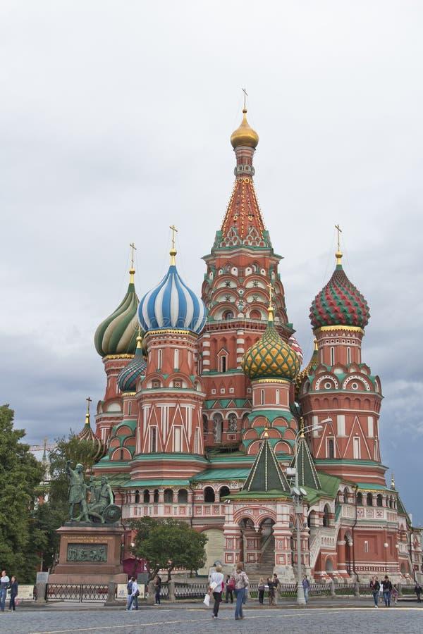 De Heiligen Basil Cathedral van Moskou in het Kremlin royalty-vrije stock fotografie