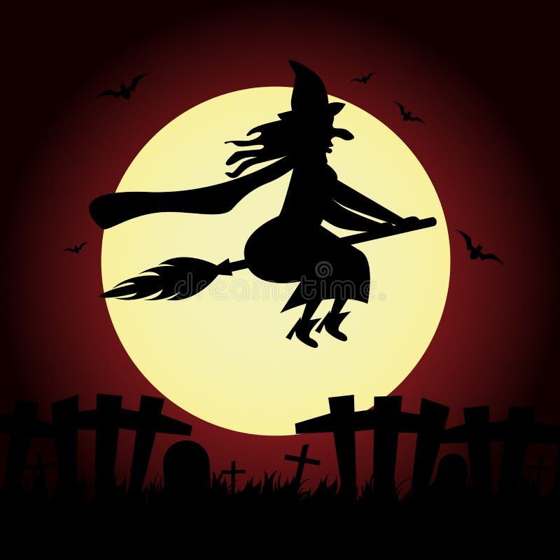 De heks van Halloween royalty-vrije illustratie