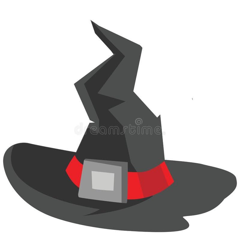 de heksenhoed, heksenglb Kleur Geïsoleerd Vectorpictogram dat kan gemakkelijk zijn geeft uit of wijzigde zich royalty-vrije illustratie