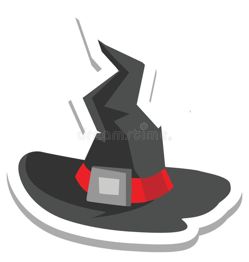 de heksenhoed, heksenglb Kleur Geïsoleerd Vectorpictogram dat kan gemakkelijk zijn geeft uit of wijzigde zich vector illustratie