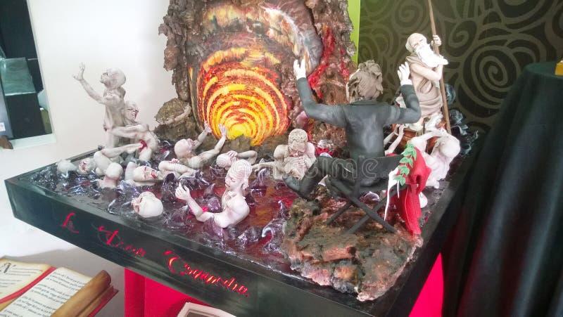 De hel van Dante stock foto's