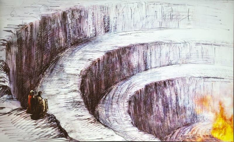 De hel van Dante stock afbeelding