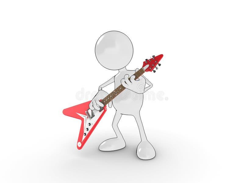 De held van de gitaar stock illustratie