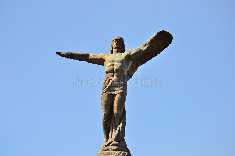 De Held van de vliegenier stock afbeelding