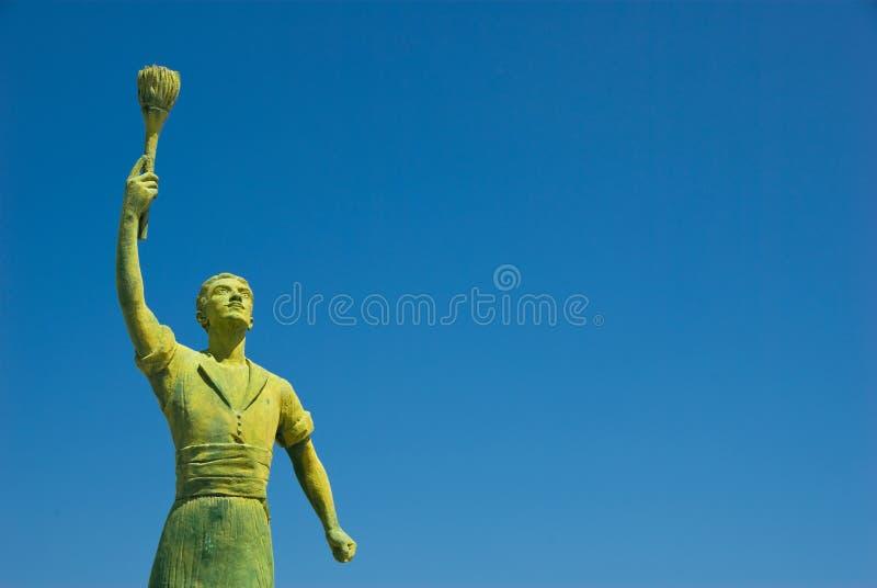 De Held van het standbeeld stock afbeeldingen