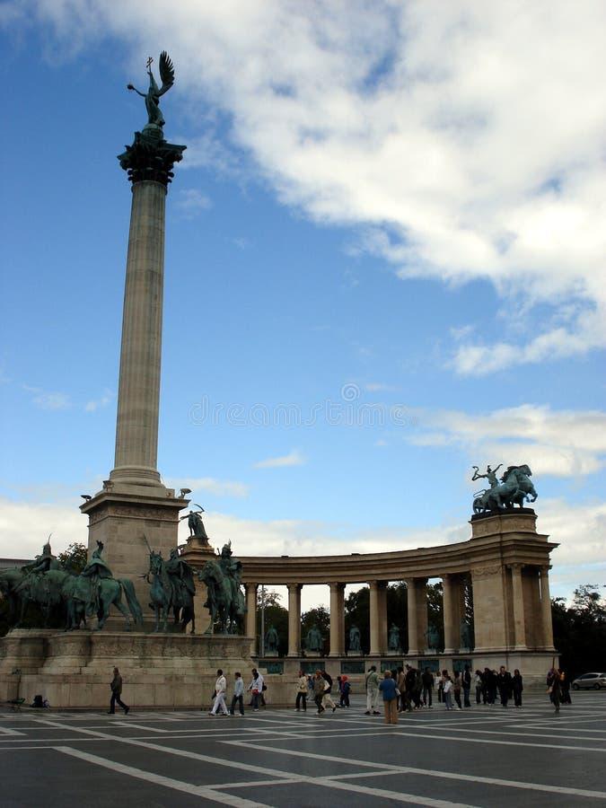 De helden regelen, Boedapest, detail royalty-vrije stock afbeeldingen