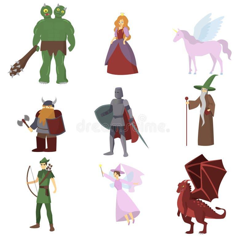 De Helden van het fantasierpg Spel Fantasie magische oorlogen stock illustratie