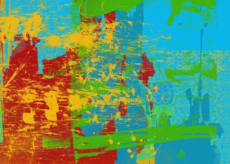 De heldere Abstracte Achtergrond van de Kunst stock illustratie