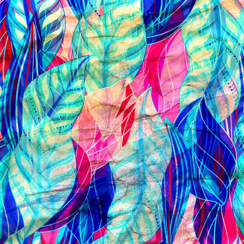 De heldere abstractie van grafiek multicolored golven vector illustratie