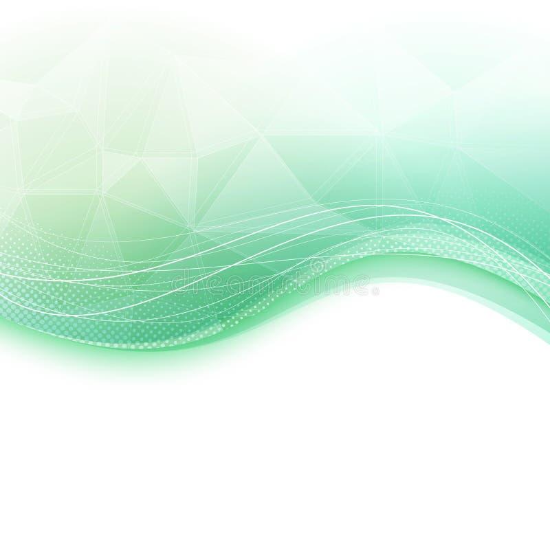 De heldere groene achtergrond van het golfkristal stock illustratie
