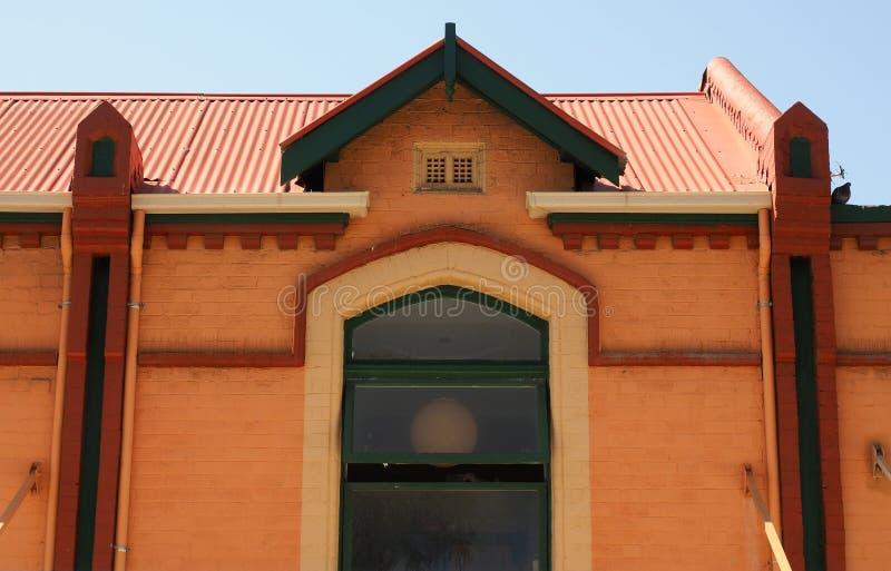 De heldere Oranje Historische Bouw, Sydney, Australië royalty-vrije stock afbeelding
