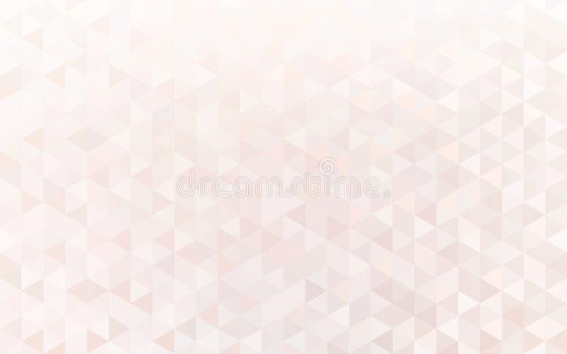 De heldere van het de vormenkristal van de pastelkleurdriehoek samenvatting van het het mozaïekbehang Tegels glanzend subtiel pat royalty-vrije illustratie