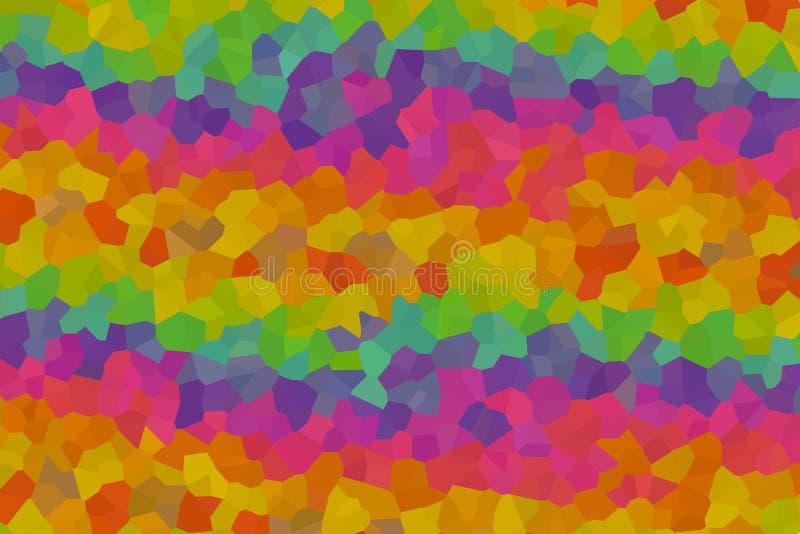 De heldere veelzijdige geometrische groene oranje geometrische caleidoscoop van de patroon karmozijnrode rode perzik stock illustratie