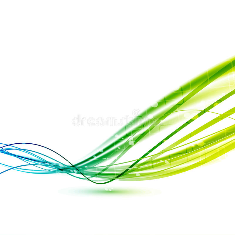 De heldergroene abstracte achtergrond van snelheidslijnen vector illustratie