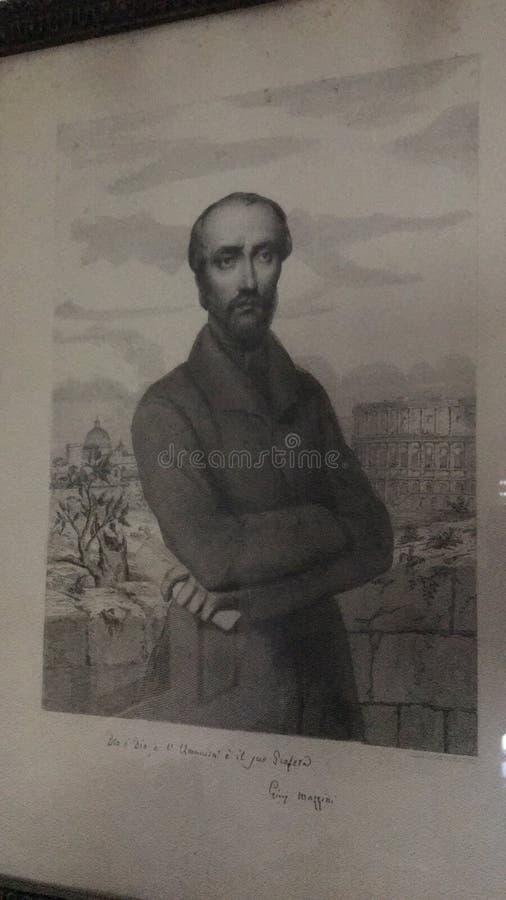 De Helderziende van Risorgimento, Giuseppe MAZZINI, IL Profeta del Risorgimento, Giuseppe MAZZINI stock fotografie