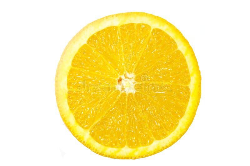 De helft van de sinaasappel stock afbeelding
