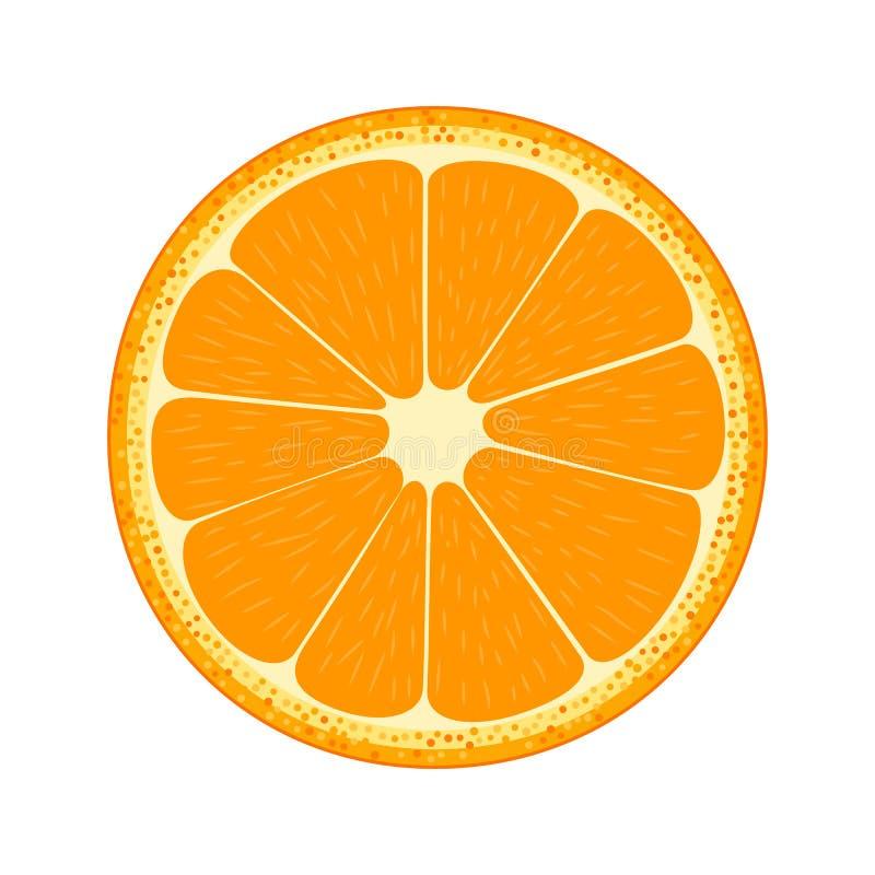De helft van fruit Sinaasappel stock illustratie