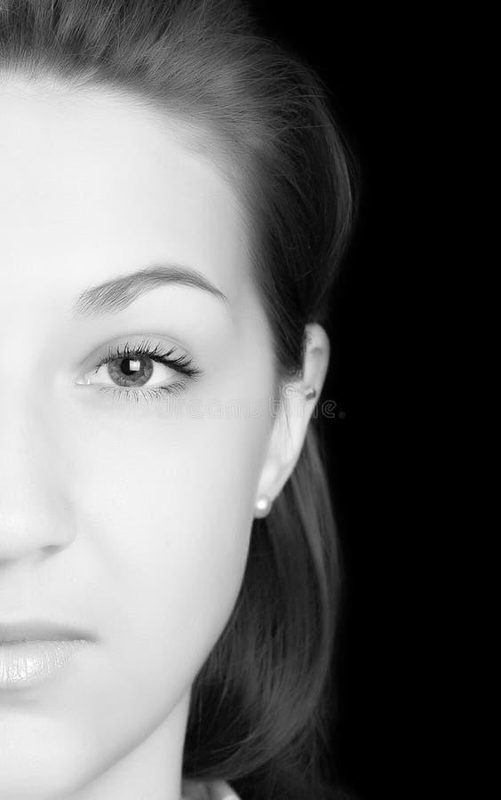 De helft van gezicht stock afbeelding