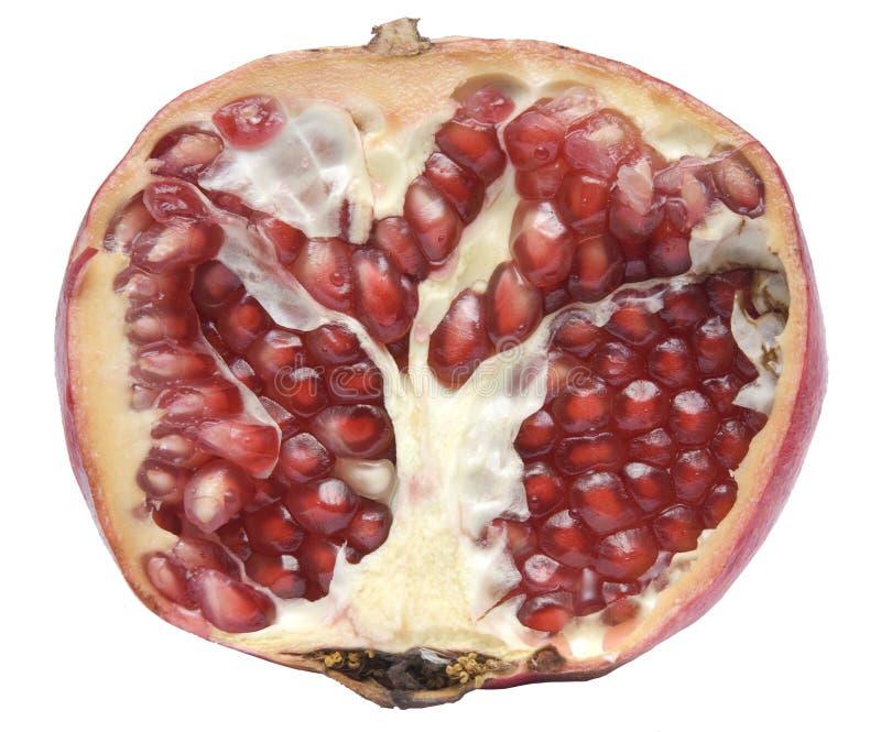 De helft van granaatappel stock afbeelding