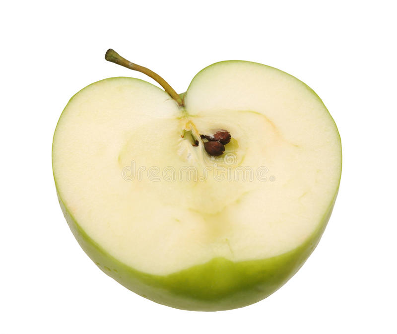 Download De helft van groene appel stock afbeelding. Afbeelding bestaande uit detail - 29511607