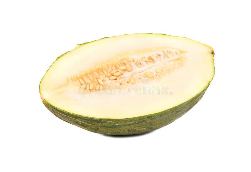 De helft van groene meloen stock afbeelding