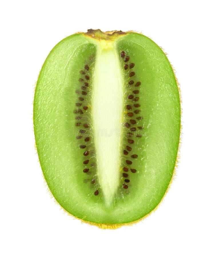 De helft van kiwifruit op witte achtergrond stock fotografie