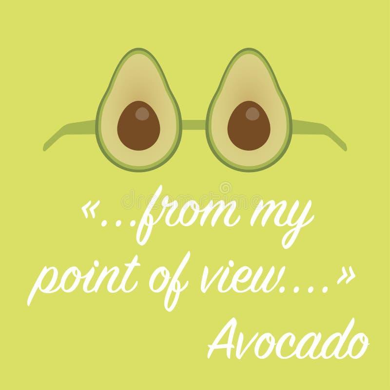 De helft van rijpe avocado voor het gezonde leven royalty-vrije illustratie