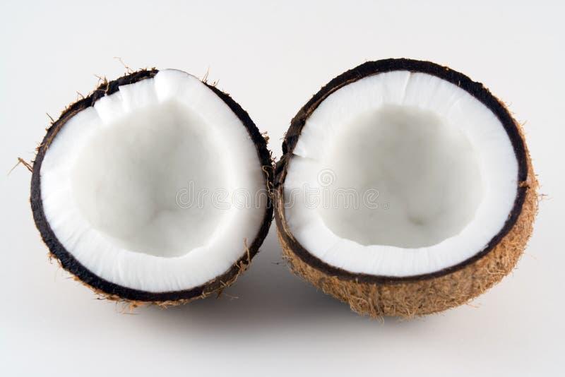 De helften van de kokosnoot royalty-vrije stock afbeelding