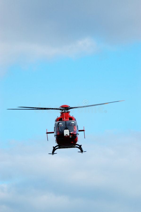 De Helikopter van de noodsituatie stock foto's